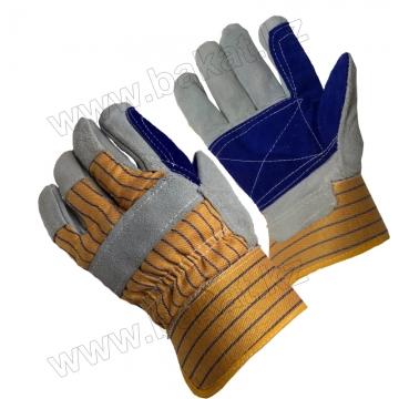Перчатки спилковые двойной утепленный