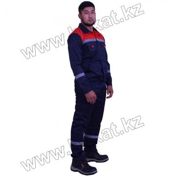 Рабочий костюм темно синий с красным